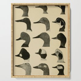 Vintage Duck Heads Serving Tray