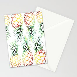 Retro Pineapples Stationery Cards