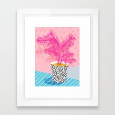 No Can Do - hipster abstract neon 1980s style memphis print palm springs socal los angeles desert Framed Art Print