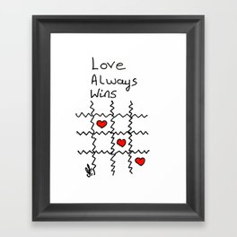 Love always wins Framed Art Print