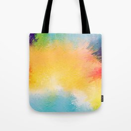 Modern Multi Color Abstract Tote Bag