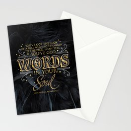 Words in your soul Stationery Cards