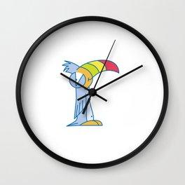 Lowercase r, no border Wall Clock