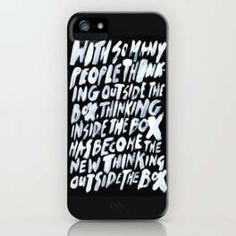 GET BACK IN THE BOX iPhone Case