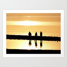 Reflection of Friendship Art Print