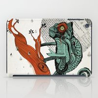 chameleon iPad Cases featuring CHAMELEON by taniavisual