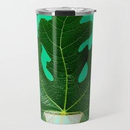 Fig Leaf Diamond Christmas Tree Travel Mug