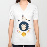 howl V-neck T-shirts featuring Howl by Ashley Hay