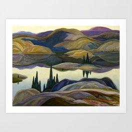 Canadian Landscape Franklin Carmichael Art Nouveau Post-Impressionism Mirror Lake Kunstdrucke