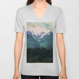 Escaping from woodland heights I Unisex V-Neck
