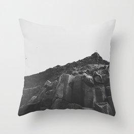 Reynisdrangar Rocks Throw Pillow