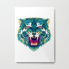 Tiger head. Tiger king illustration Metal Print