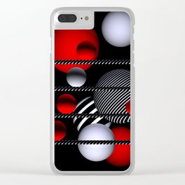 go red -1- Clear iPhone Case