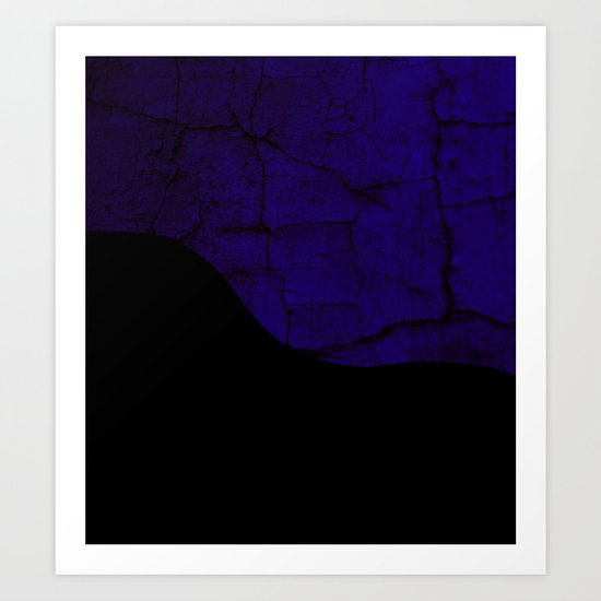 Color Textured Abstract Art Print