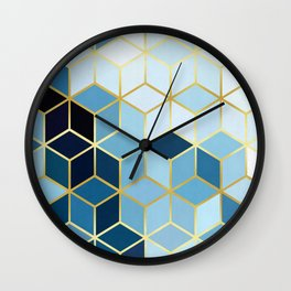 Golden pattern I Wall Clock