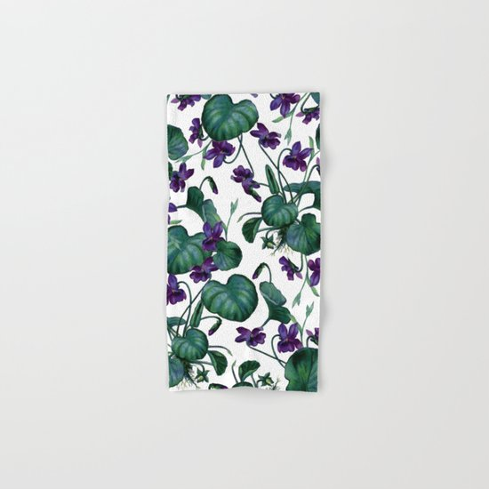 Violets #society6 #decor #buyart Hand & Bath Towel