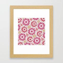 Feminine Flowers Pattern Framed Art Print