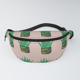 Snake plant pattern - Beige Fanny Pack