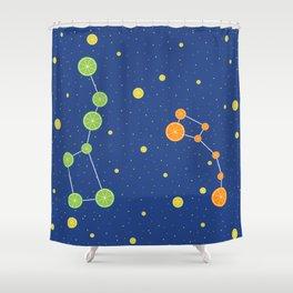 Citrus constellations Shower Curtain