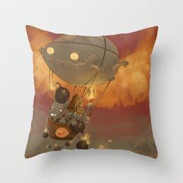 Goblin Balloon Brigade Throw Pillow