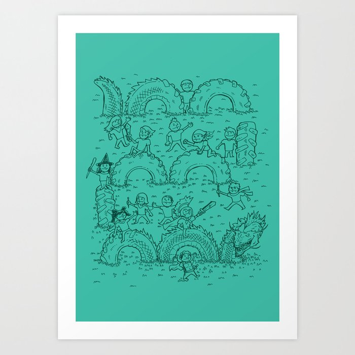 The Tire Dragon Art Print