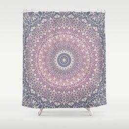 gray pink mandala Shower Curtain