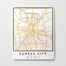 KANSAS CITY MISSOURI CITY STREET MAP ART Metal Print