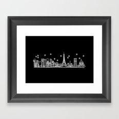 Paris, France City Skyline Framed Art Print