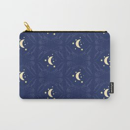 Owls, Moons, and Stars Illustrated Celestial Print Carry-All Pouch