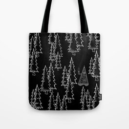 Lost in the wood, a lonely cabin (revers) Tote Bag