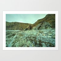 geology Art Prints featuring Hartland Geology  by Rob Hawkins Photography