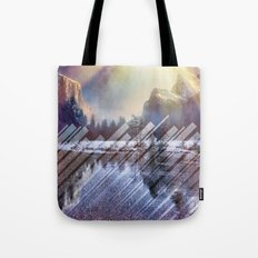 Winter Sun Rays Abstract Nature Tote Bag