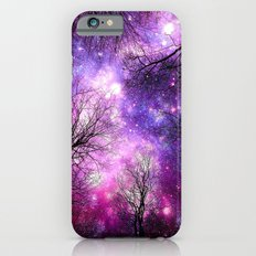 black trees fuchsia purple space iPhone 6 Slim Case