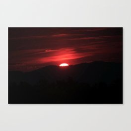 sun down Canvas Print