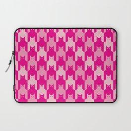 Pink Catstooth Pattern Laptop Sleeve