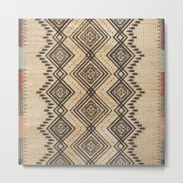 Traditional Oriental African Moroccan Style Artwork. Metal Print