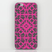 gray pattern iPhone & iPod Skins featuring Magenta Gray pattern by xiari