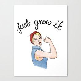 just grow it 2 Canvas Print