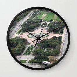 Buckingham Fountain Chicago Illinois Color Photo Wall Clock