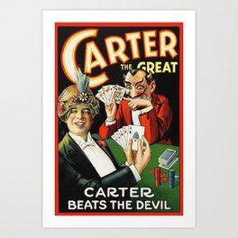 Carter The Great Magician Poster Art Print