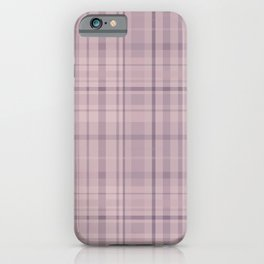 Mauve Plaid iPhone Case