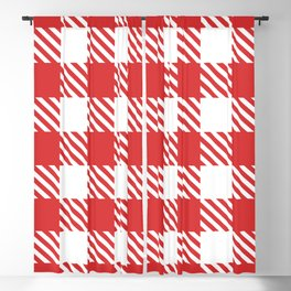 Plaid Pattern Red Blackout Curtain
