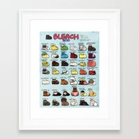 bleach Framed Art Prints featuring BLEACH Cats by Maou Mao XD