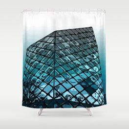 Aoyama Blue Tokyo Shower Curtain