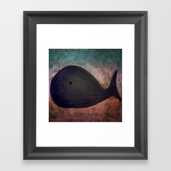 Whale-167 Framed Art Print