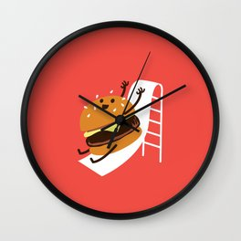 Slider Burger Wall Clock