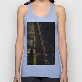 Bay Bridge Fire Boat at Night Unisex Tank Top
