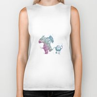 monsters inc Biker Tanks featuring Mike and Sully Monsters Inc. Disneys by Carma Zoe