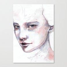 Frozen, quick watercolor portraiture Canvas Print