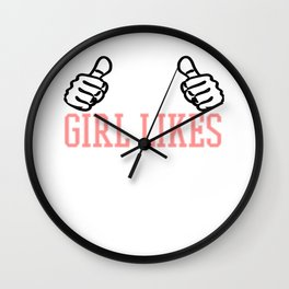 This Girl Likes Ponies Wall Clock